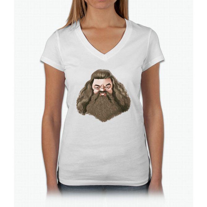 Hagrid Harry Potter Womens V-Neck T-Shirt