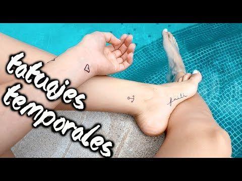 Como Hacer Tatuajes Temporales En Casa Cristinaneros Youtube
