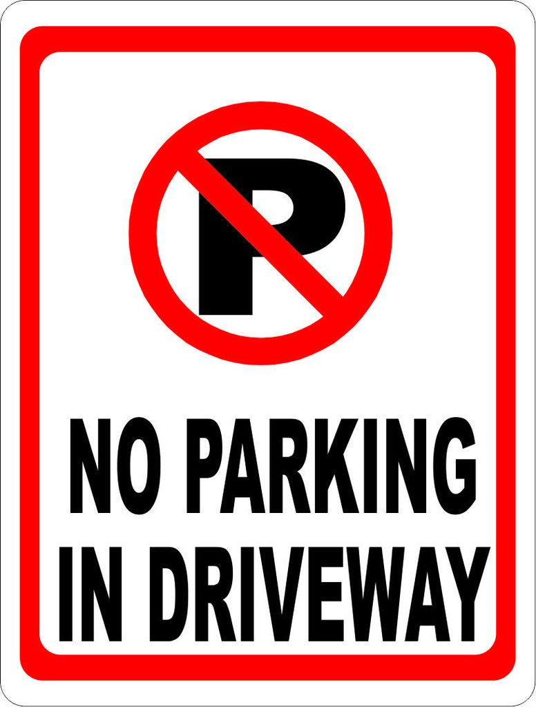 No parking in driveway sign wsymbol driveways symbols and products no parking in driveway sign wsymbol biocorpaavc Images
