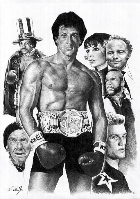 Rocky Comic Art Com Imagens Stallone Posteres De Filmes Ator