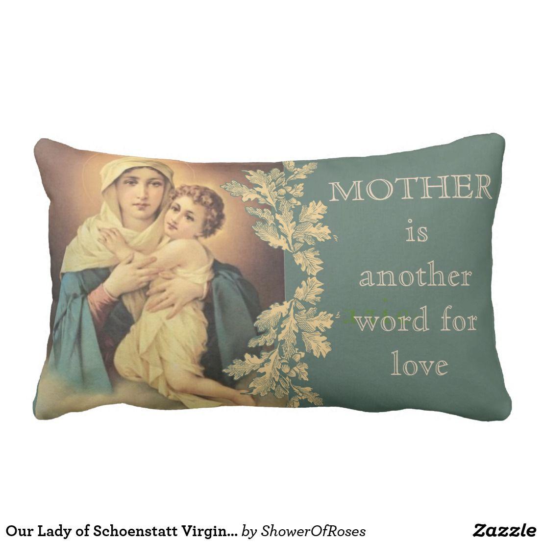 Our Lady of Schoenstatt Virgin Mary Jesus MOTHER Lumbar Pillow