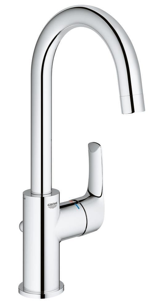 Grohe Eurosmart Basin Tap with Pop-Up Waste Set High Swivel Spout L ...