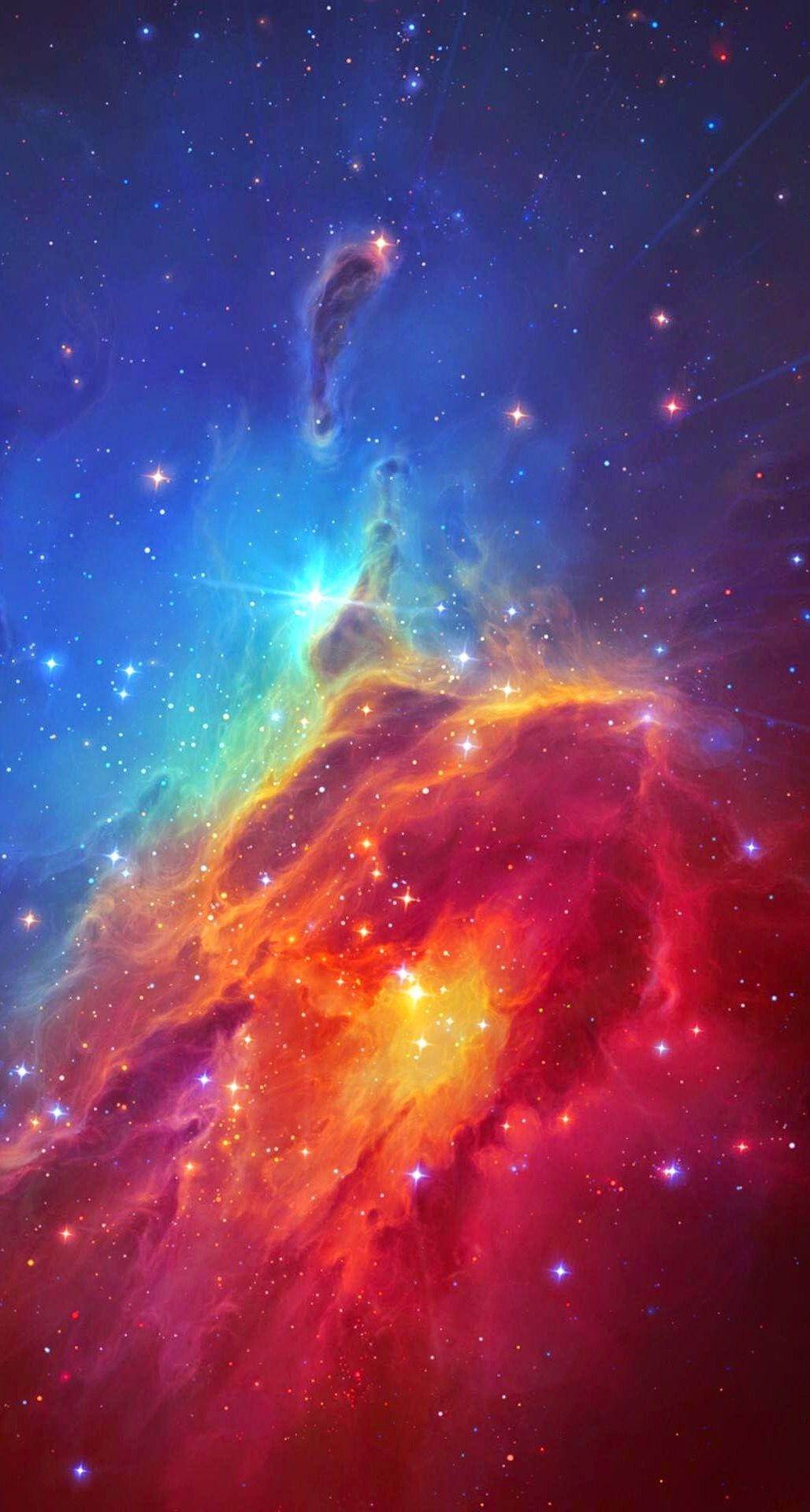 colorful nebula iphone wallpaper - photo #2