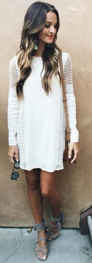 Photo of White dress. For Everyone. Blog @ #DapperNDame Pinterest. dapperanddame