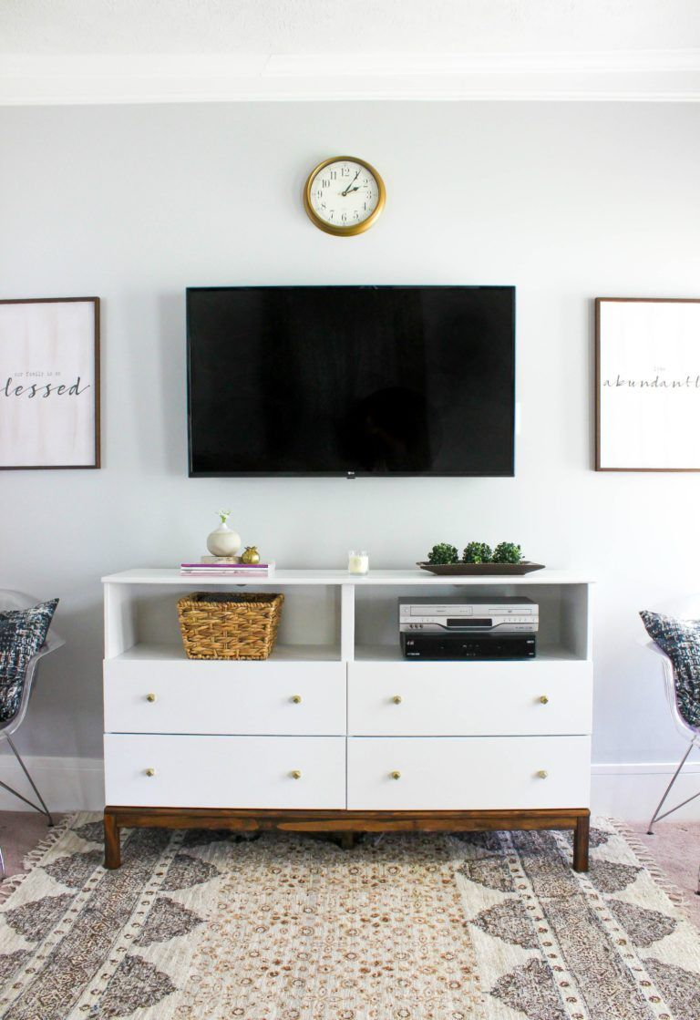 Ikea Dresser To Tv Stand Transformation Living Room Tv Stand Ikea Hack Living Room Bedroom Tv Stand