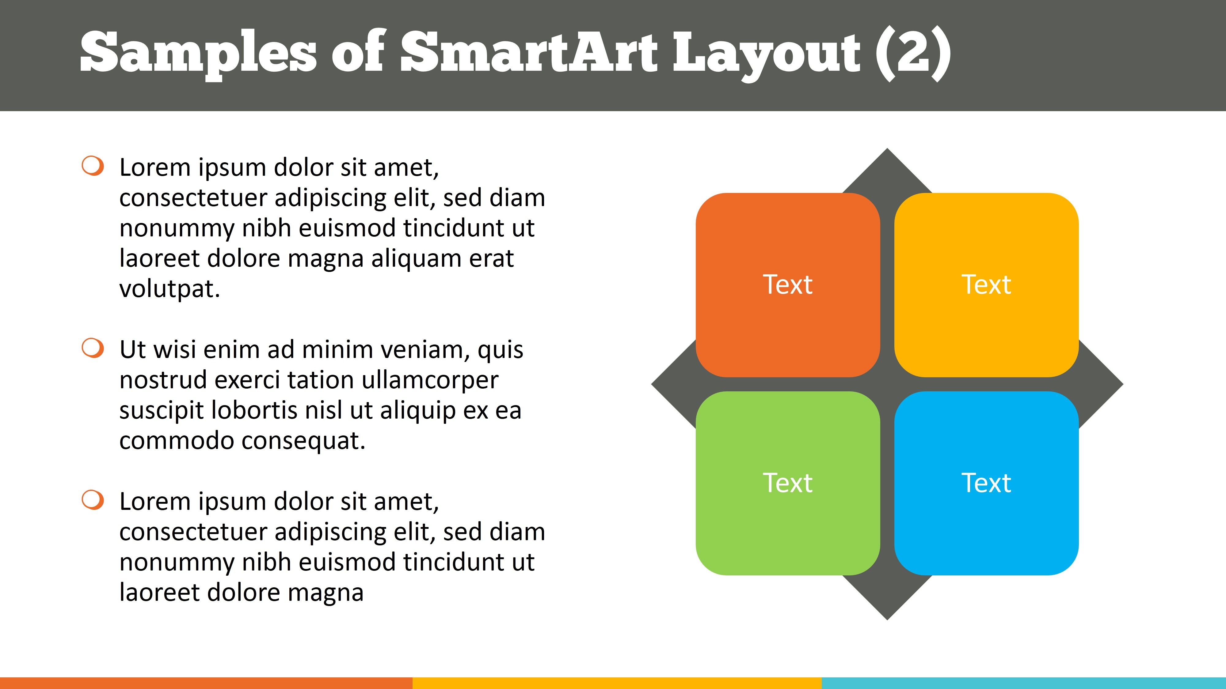 text with smartart download best business powerpoint template