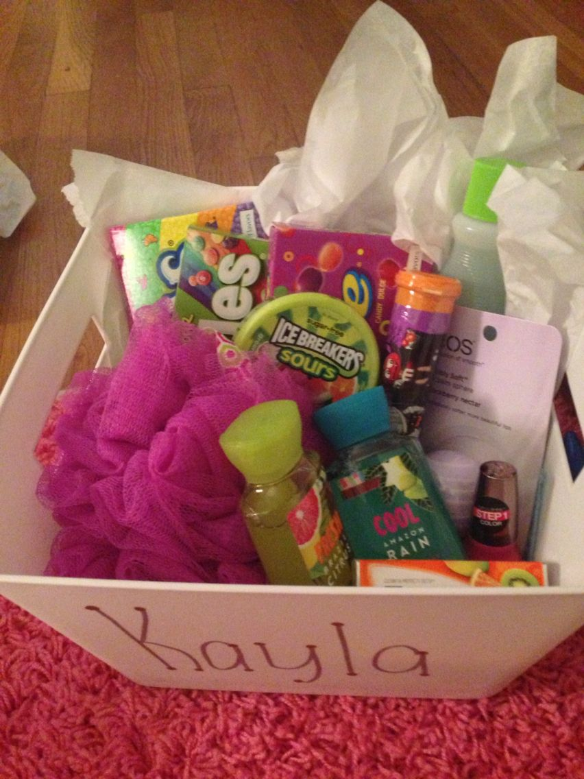 I Ask My Best Friend What Her Favorite Colors Were And Made A Gift Basket Out Of It All Under 25