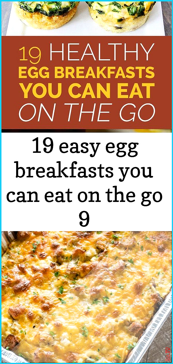 19 Healthy Egg Breakfasts You Can Eat On The Go Easy breakfast casserole recipe This Sausage Hashbr