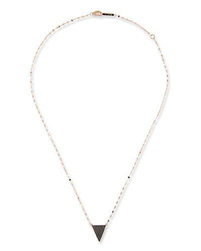 JCJPV Lana Reckless Black Diamond Triangle Necklace in 14K Rose Gold