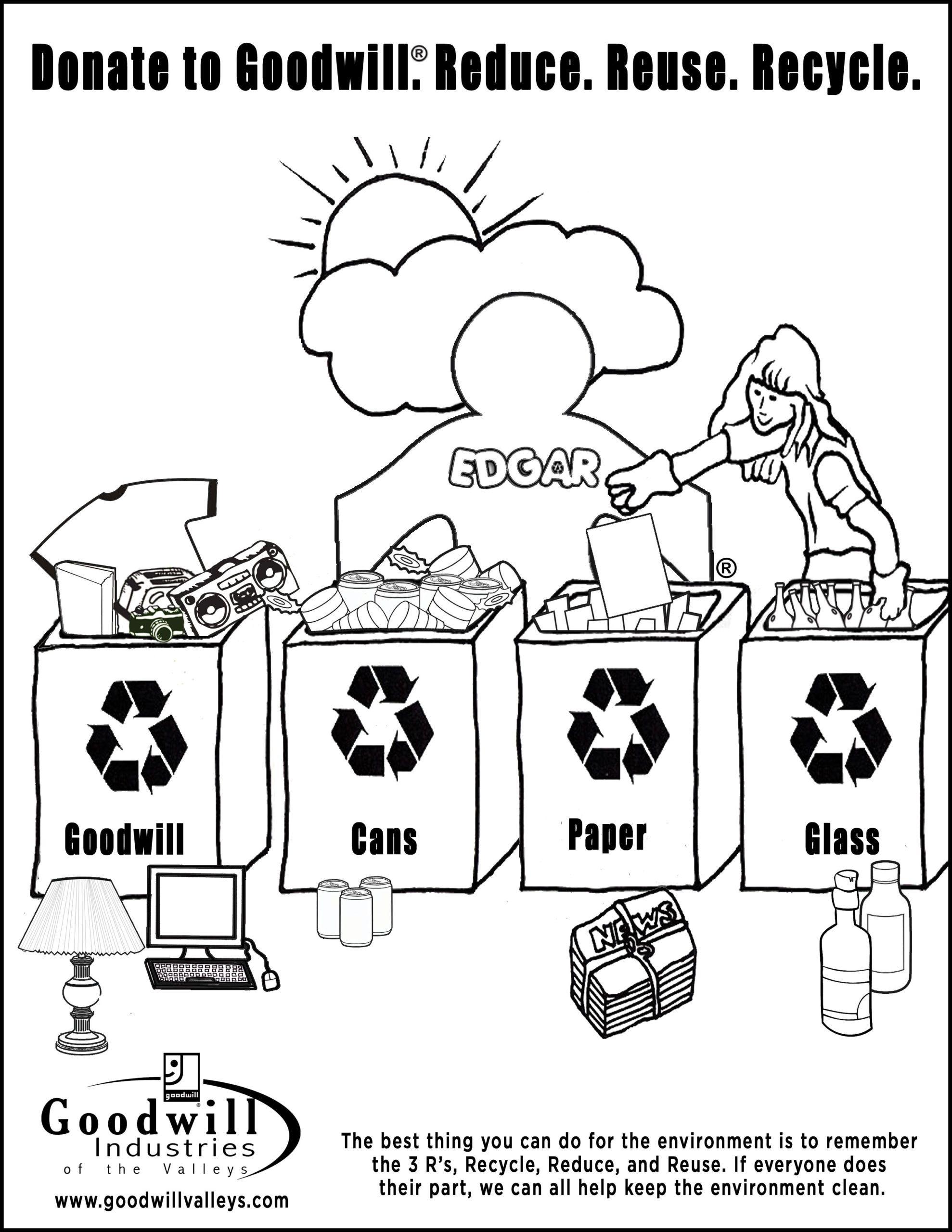 20 Recycling Worksheet For Kindergarten