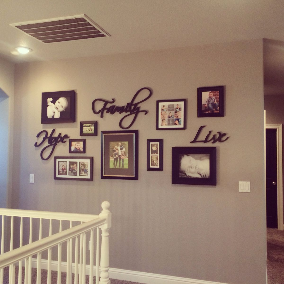 Black Picture Frame Collage Wall