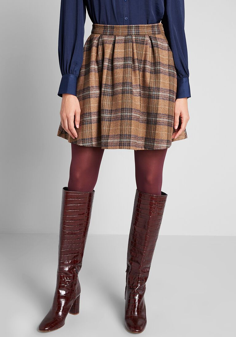 Modcloth mini skirts Brisk Taker Wool Mini Skirt Wool Mini Skirt Mini Skirts Fashion