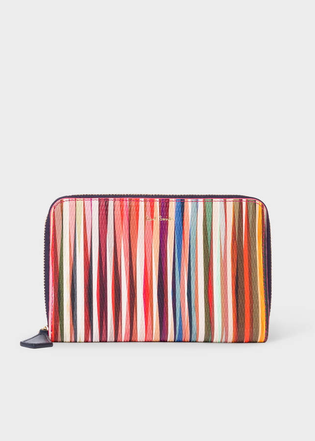 0cf6e1778fe9 Paul Smith Women's Medium 'Crossover Stripe' Leather Zip-Around Purse