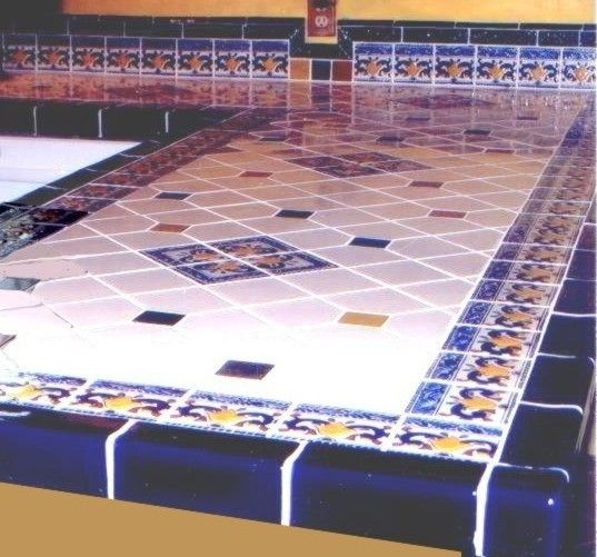 Vibrant Decorative Porcelain Tile Countertop Latin Accents Home Ideas Pinterest