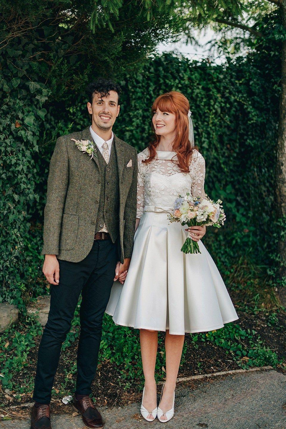 Bride Amy Wears A Replica 1960s Wedding Dress Designed By Fur Coat No Knickers