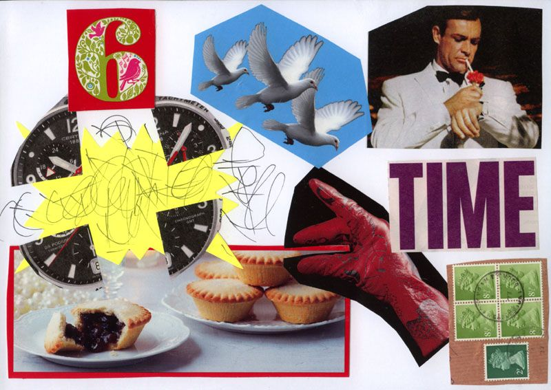 Mince Pie Time? Mailart off to Italy.