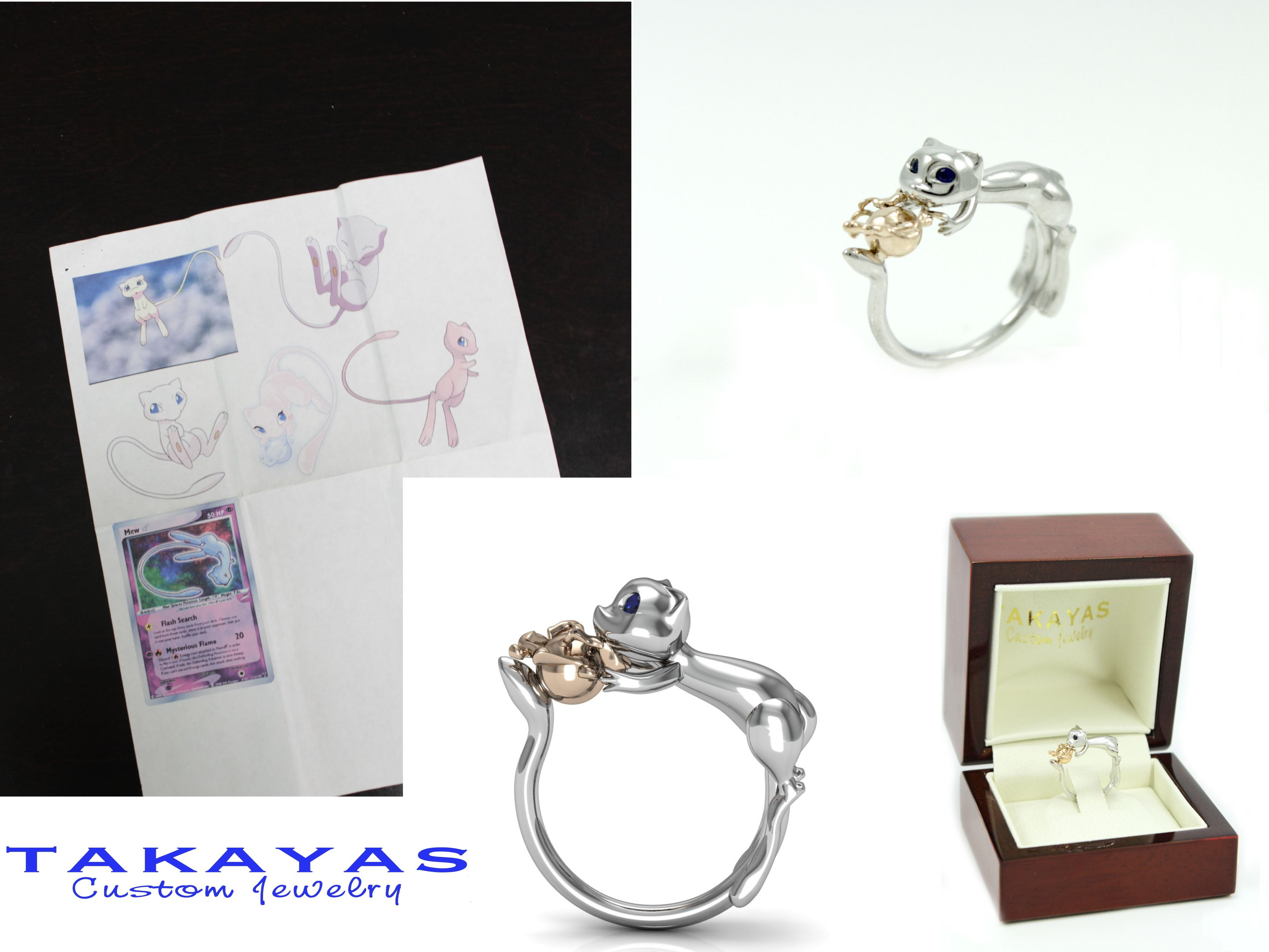 Takayas Custom Jewelry Pokemon Jewelry Geeky Engagement Rings Engagement