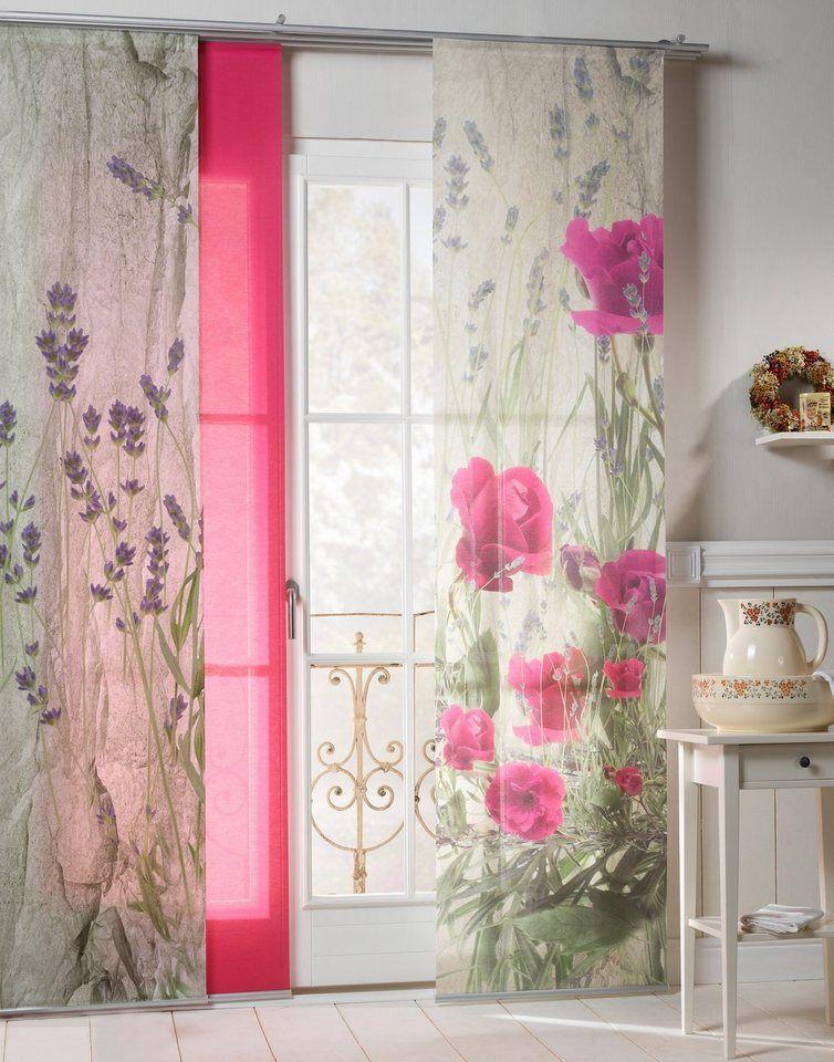 Schiebegardine »Landhaus Rose«, emotion textiles