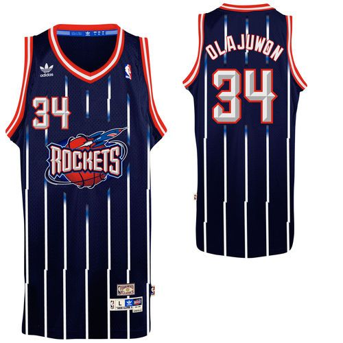 best value a1ca6 1ba18 Mens Houston Rockets Hakeem Olajuwon adidas Navy Blue ...