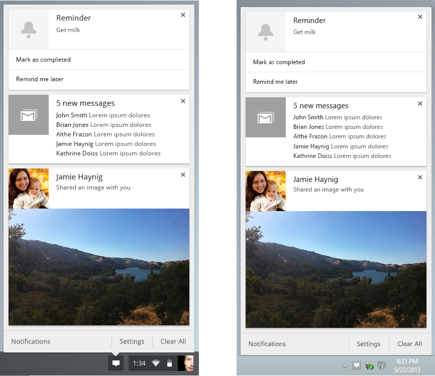 Google Adds Notification Center And Rich Notifications To