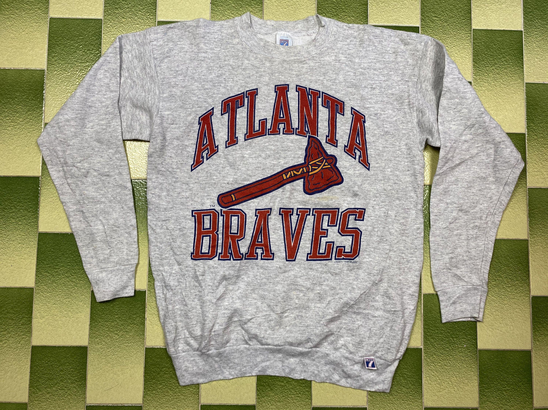 Vintage 1989 Mlb Atlanta Braves Sweatshirt Baseball Team Etsy In 2020 Sweatshirts Atlanta Braves Car Tee Shirts