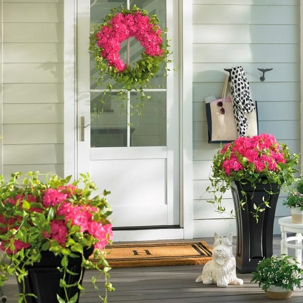 Haley Hydrangea Wreath & Haley Hydrangea Wreath | Front porches Porch and Front doors