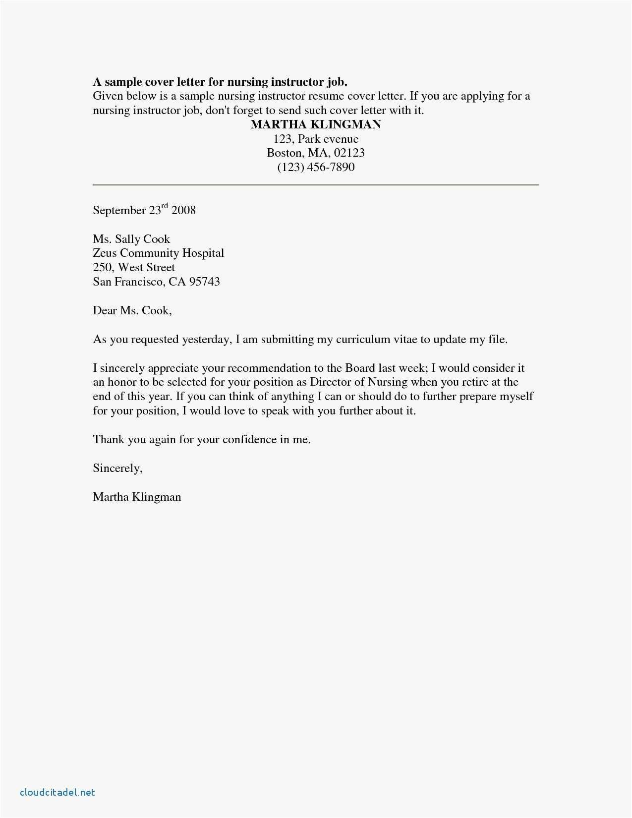 25 Nursing Cover Letter Examples Sample Resume Cover Letter