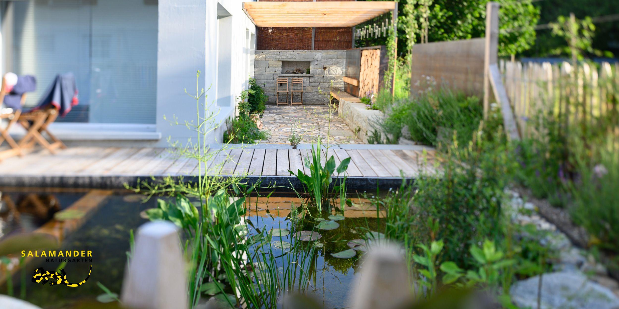 Sehen Sie In Unserer Musteranlage Das Resultat Unseres Eingebauten Schwimmteich Eigenbaukits Sc Schwimmteich Schwimmteich Selber Bauen Naturgarten