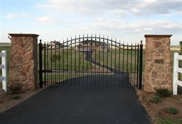 Concord 10 Foot Single Swing Driveway Gate Wrought Iron Driveway Gate Wrought Iron Driveway Gates Driveway Gate Iron Gates Driveway