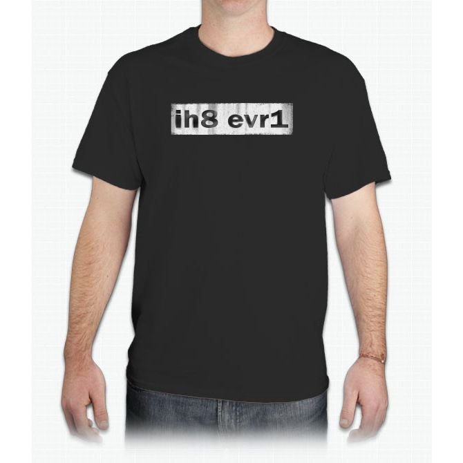 I Hate Every One (license Plate Style) Twenty One - Mens T-Shirt