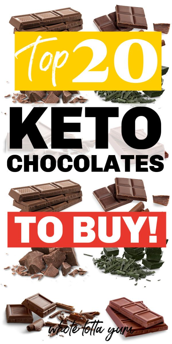 TOP 20 Keto Chocolate (Bars, Candy, Store Bought Snacks ...