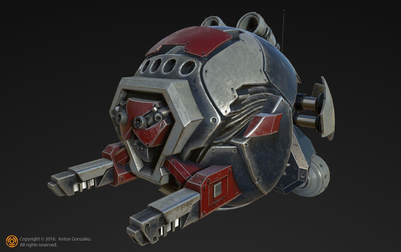 "ArtStation - ""Patrol"" hover bot, Anton Gonzalez"