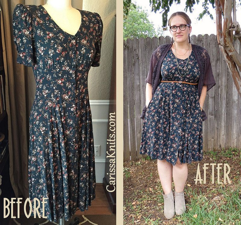 ee293393dea6 90s Floral Dress Refashion by CarissaKnits
