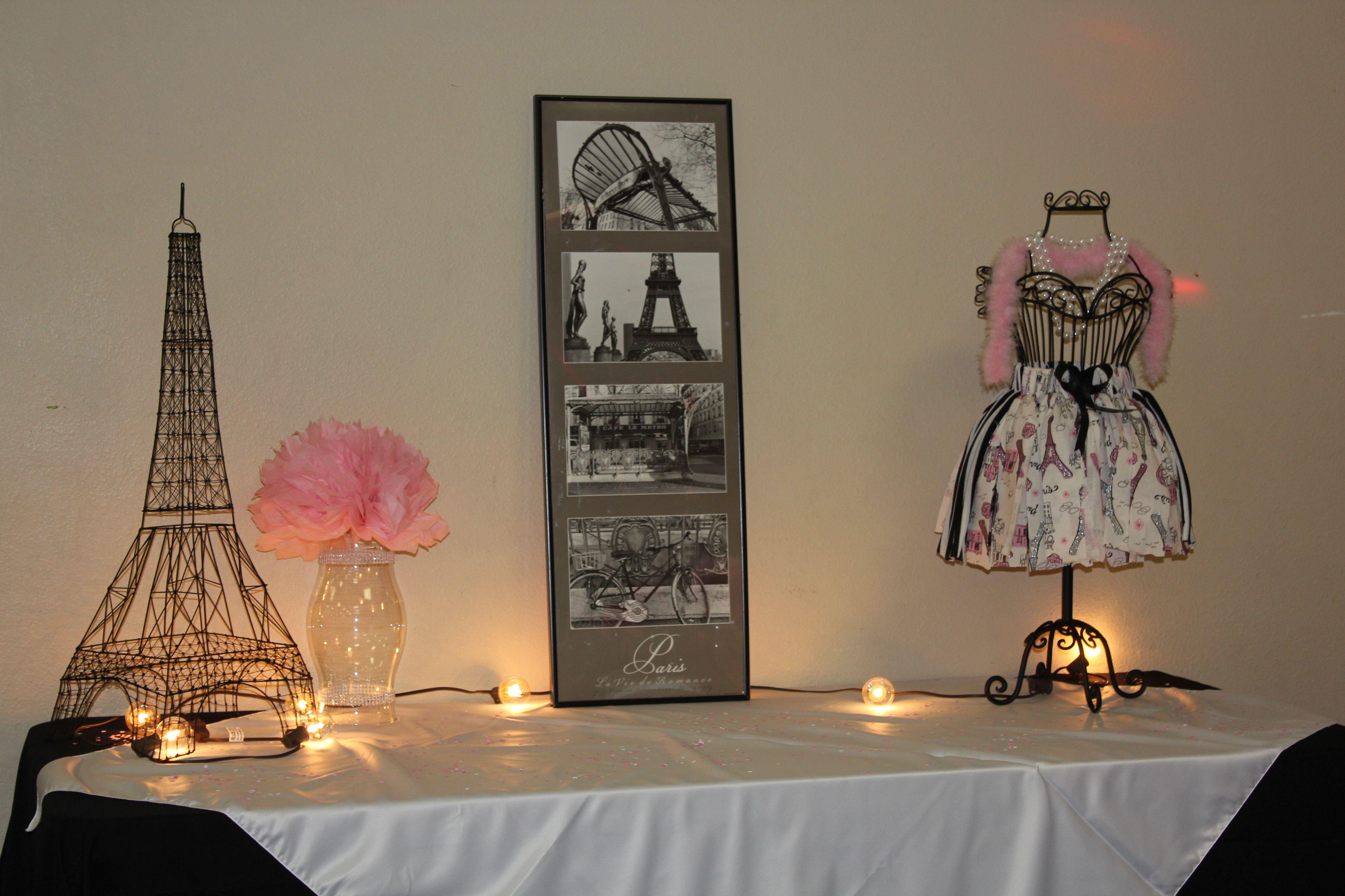 Paris Baby Shower Gift Table Paris Theme 15Th Bday