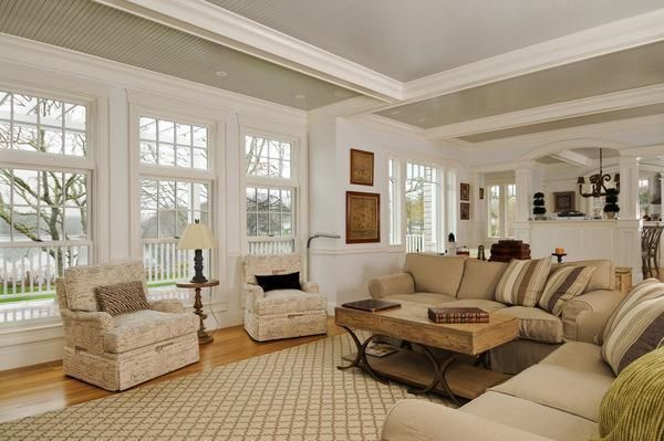 Replica Of Grey Gardens House In Cape Cod Living Room