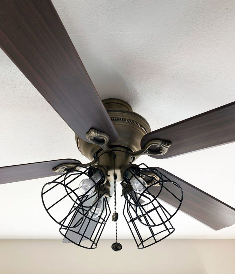 Ceiling Fan Makeover Farmhouse Style My Wee Abode Farmhouse