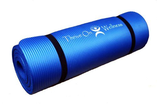 Thrive On Wellness Thick Yoga Mat Best Comfort With Strap For Travel 1 2 Inch 72 Extra Long 24 Wide Yoga Mats Best Thick Exercise Mat Thick Yoga Mats