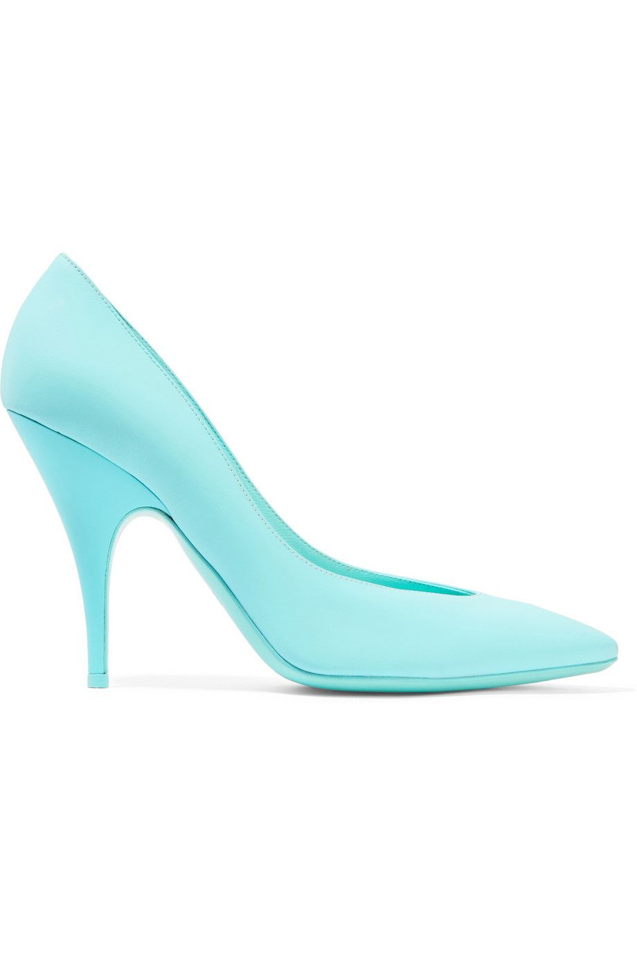 MOSCHINO Neon Leather Pumps. #moschino #shoes #pumps
