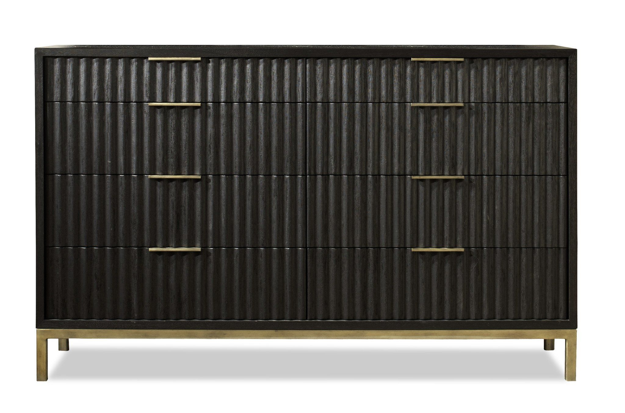 The Westmont Dresser Is A Sophisticated And Contemporary Piece That Features Wire Brushed Solid Mahogany Wood T Modern Dresser Double Dresser Colorful Dresser [ 1354 x 2048 Pixel ]