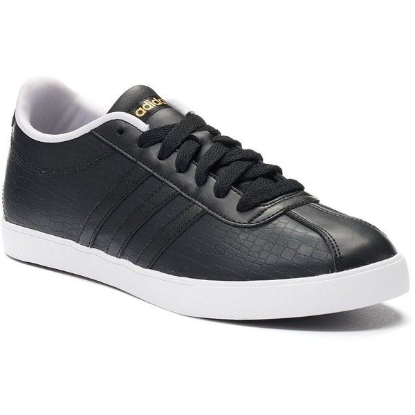 Adidas NEO Courtset Women's Shoes | Lace adidas shoes, Black ...