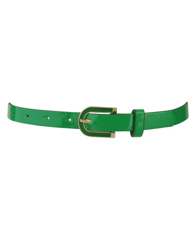 Buckle Trim Belt in Green – Forever 21, $4.80