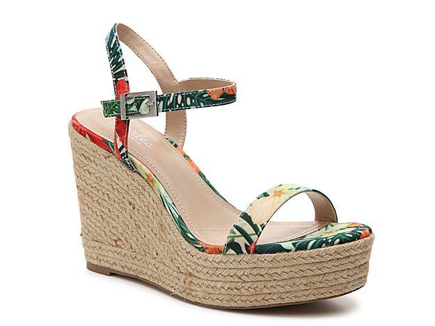 2c7da11ad2 Women Lizzie Wedge Sandal -Dark Green/Yellow/Coral Jungle   Products