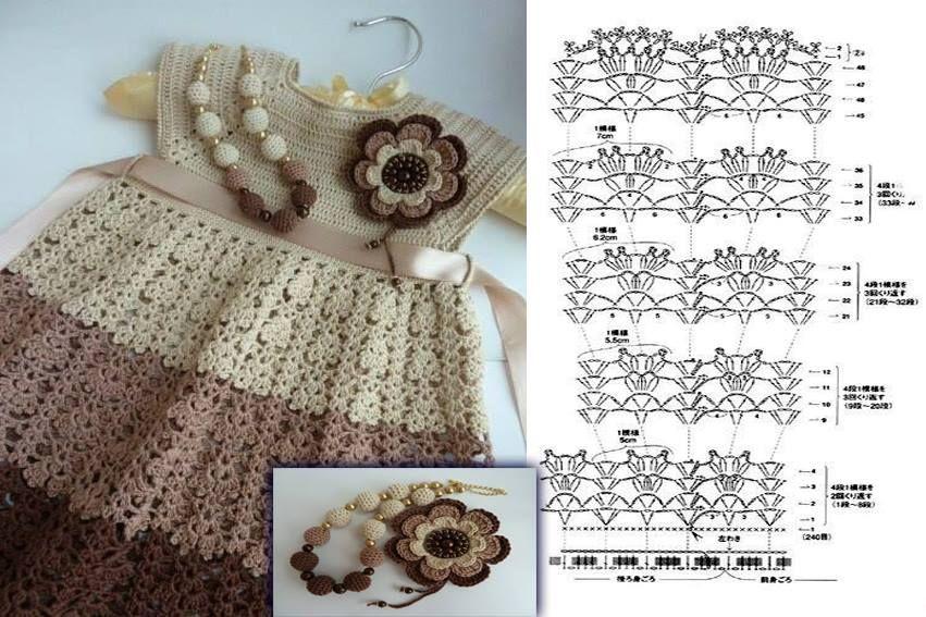 Diagrama Vestido Crochet Bebe - Residential Electrical Symbols •