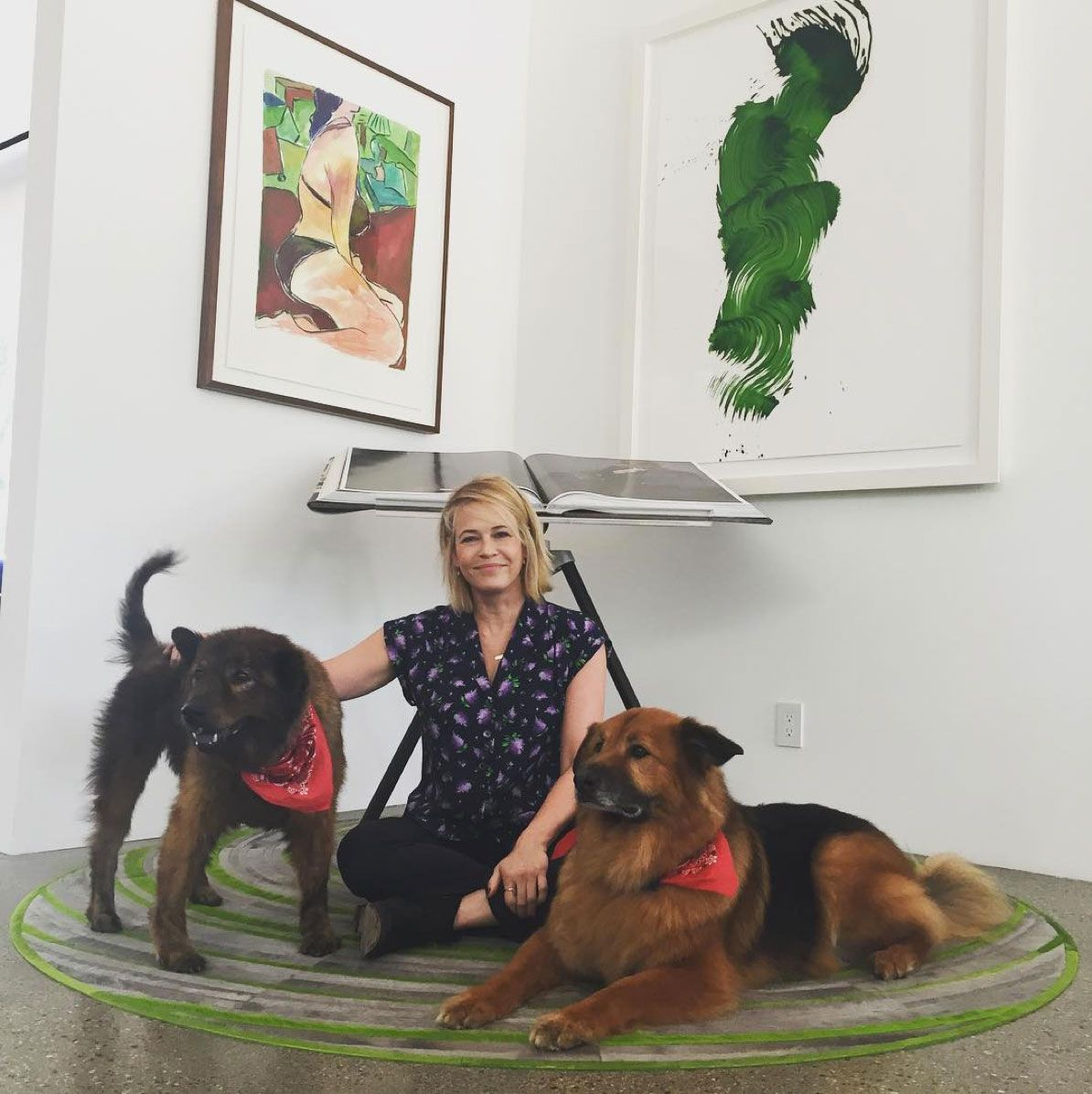 24 Celebrities Who Adopted Their Adorable Pups - Chelsea Handler, Tammy and Chunk  - from InStyle.com