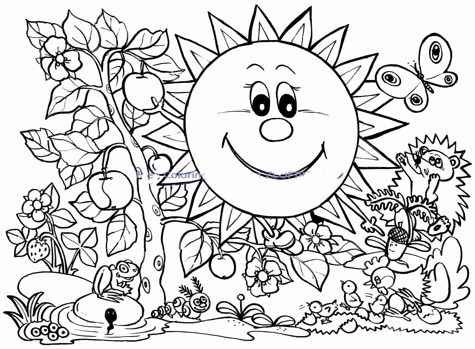 Free Spring Coloring Sheets Printable Unique Spring Coloring Pages
