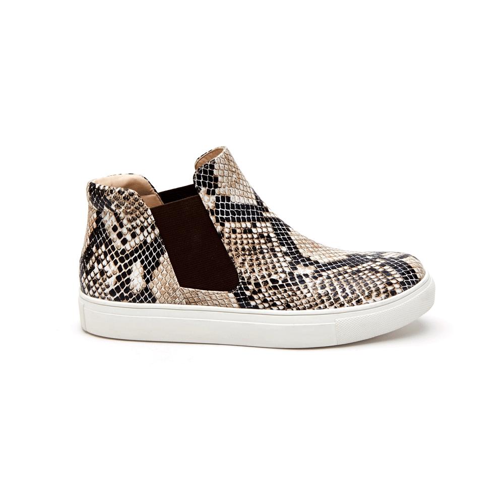 Harlan | Snake skin sneakers, Slip on