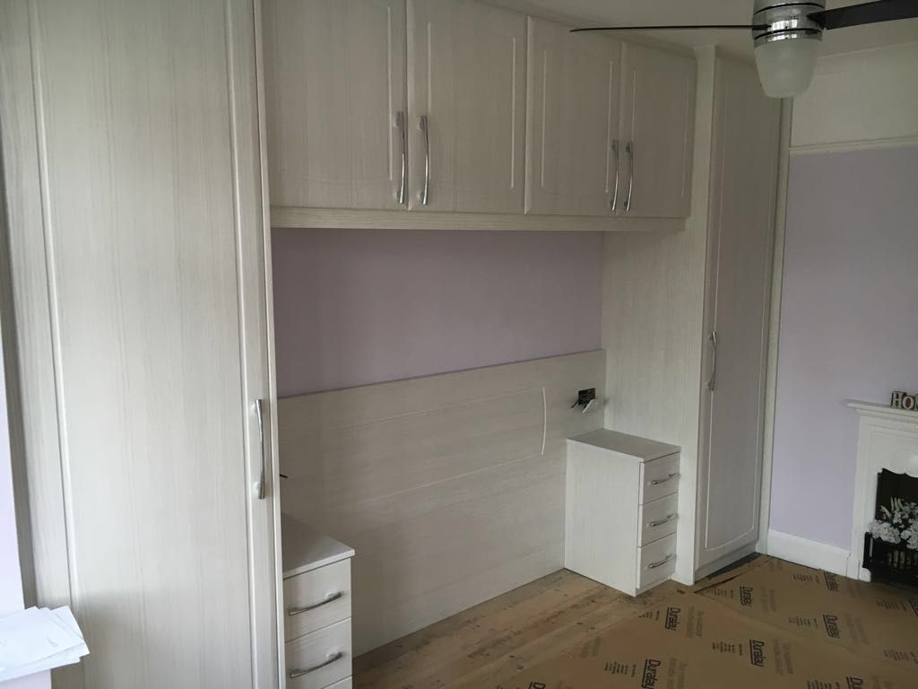 Over Bed Storage Unit Over Bed Storage Built In Headboard And Bedside Units To