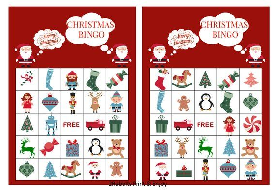 photograph relating to Free Printable Christmas Bingo Cards referred to as 20 Printable Xmas Bingo Playing cards Prefilled Xmas Clip