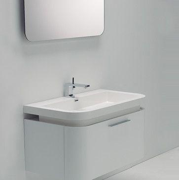 Milano Stone Vos White Wall Mounted Designer Bathroom Vanity Unit 900 Contemporary Small Bathroom Vanities Bathroom Vanity Units Contemporary Bathroom Vanity Bathroom modern vanity units milano