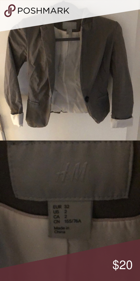 Tab/brown color blazer H&M blazer size 2 H&M Jackets & Coats